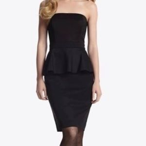 White House Black Market Strapless Peplum Dress